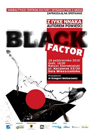 Plakat spotkania zIyke Nnaka wGdańsku